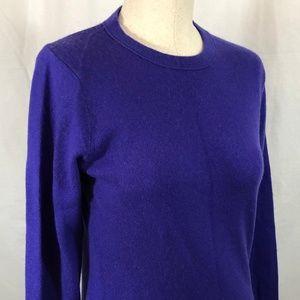 J Crew Purple Cashmere Sweater Size M
